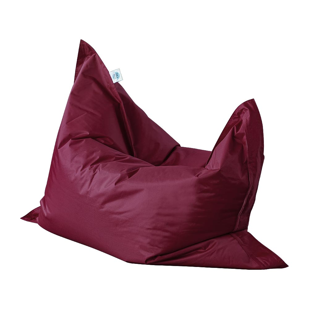 Versa - rectangular, water-resistant bean bag - dark red