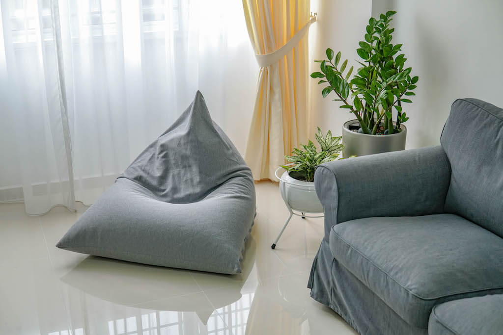 Tetzzz stretchy beanbag in HDB living room